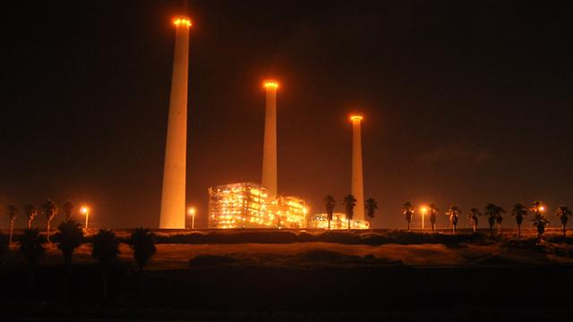 תחנת הכוח בחדרה (צילום: ג'ורג' גינסברג) (צילום: ג'ורג' גינסברג)