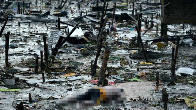נזקי האסון. חשש ממגפות (צילום: AFP)