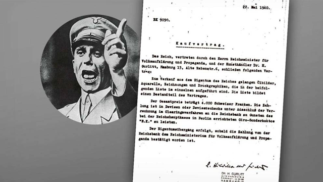 Contract for sale of Jewish-owned artwork by Joseph Goebbels from Bild's report (Photo: Bild)