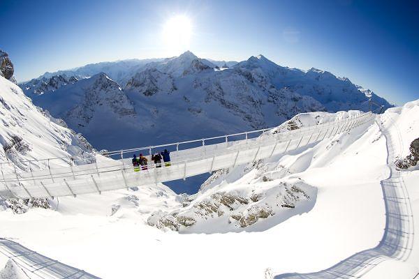 לעלות 3,000 מ' ולתצפת. הגשר התלוי הגבוה באירופה (צילום: אתר ה-TITLIS)