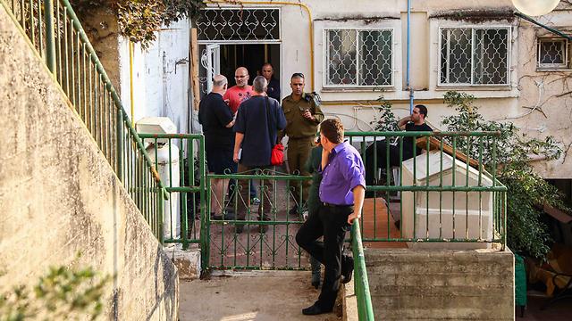 בית משפחת הנרצח בנצרת עילית (צילום: אבישג שאר-ישוב)