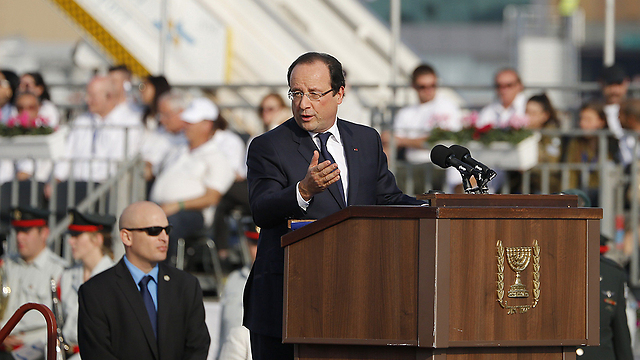 Hollande express support for Israel (Photo: AFP)