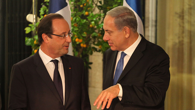 Prime Minister Netanyahu meets with French President Hollande in jerusalem (Photo: Yoav Dodkovitch)