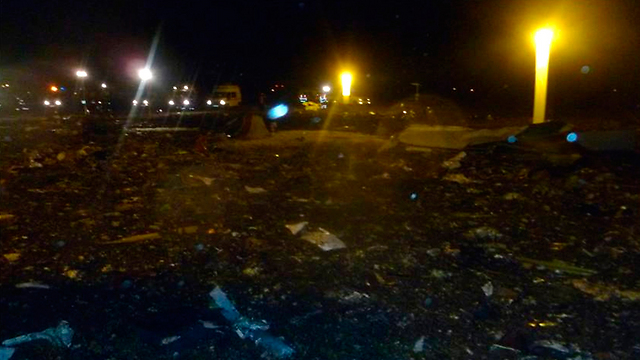 אזור הפיצוץ בקאזאן (צילום: AP) (צילום: AP)