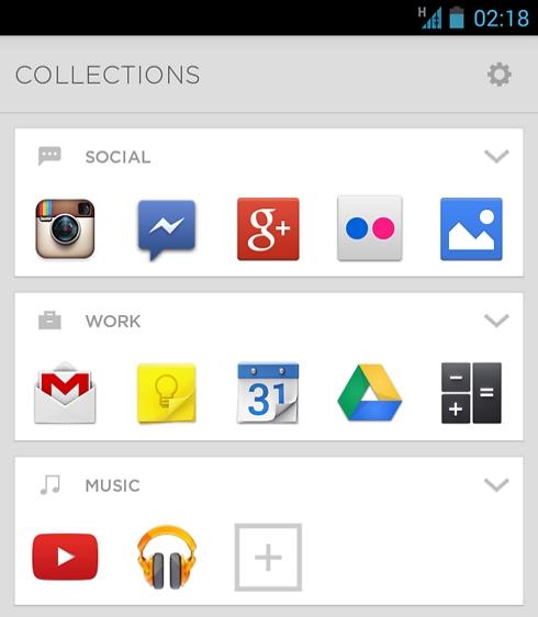 האוספים מסודרים באופן אוטומטי כשמתקינים את אייביאייט ובכל פעם שמתקינים אפליקציה חדשה
