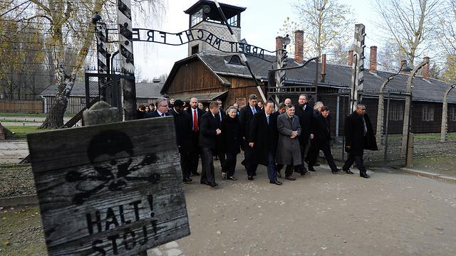 Церемония в Освенциме. Фото: AFP