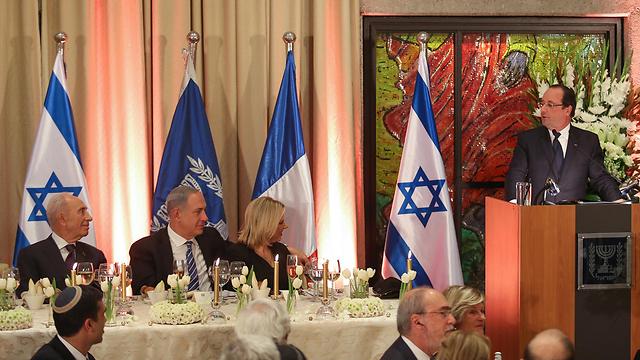 ארוחת הערב הממלכתית בבית הנשיא לכבוד פרנסואה הולנד (צילום: נועם מושקוביץ') (צילום: נועם מושקוביץ')