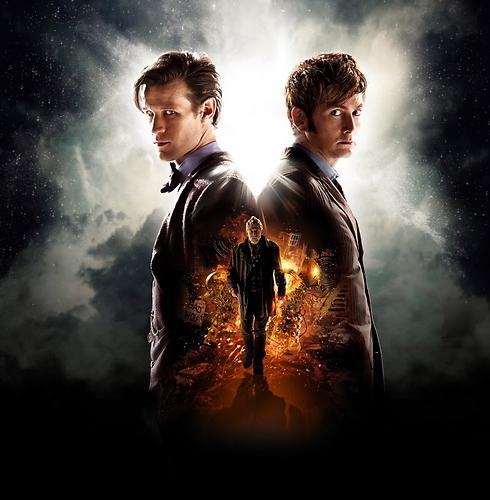 דוקטורים מספר 10 ו-11, וביניהם - הדמות שיגלם ג'ון הארט בפרק היובל ()