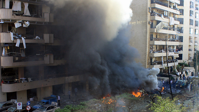 Explosion near the Iranian embassy in Beirut (Photo: AFP)