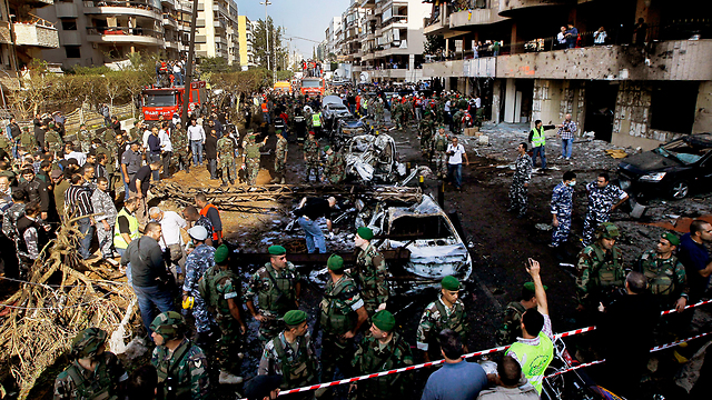 Scene of deadly double suicide bombing (Photo: EPA)