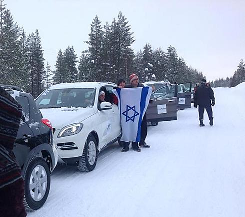 קצת גאווה ישראלית על הקרח (צילום: איציק כץ) (צילום: איציק כץ)