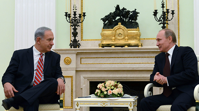"""נתניהו ופוטין במוסקבה (צילום: קובי גדעון, לע""""מ) (צילום: קובי גדעון, לע"""