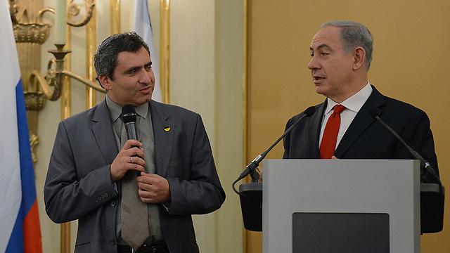 PM Netanyahu, Deputy FM Elkin in Moscow (Photo: Kobi Gideon, GPO) (Photo: Kobi Gideon, GPO)
