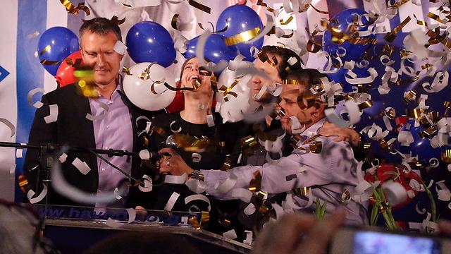 Victory celebrations (Photo: Motti Kimchi)