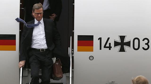 שר החוץ הגרמני מגיע לז'נבה (צילום: AFP) (צילום: AFP)