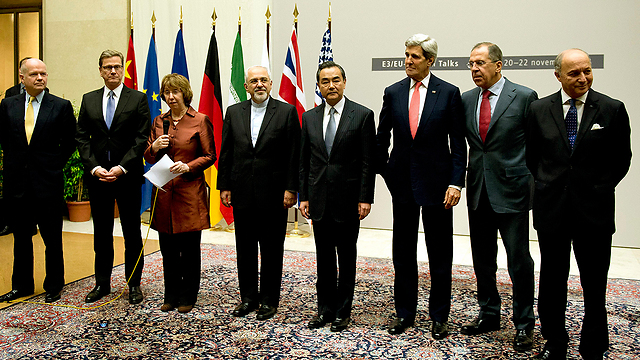 Diplomatic representatives of West and Iran, at signing of nuclear accords in Geneva (Photo: AP) (Photo: AP)