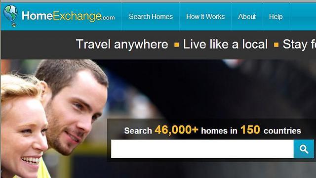 היצע דירות גדול. אתר home exchange  (צילום: מתוך אתר האינטרנט) (צילום: מתוך אתר האינטרנט)