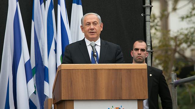 ראש הממשלה בנימין נתניהו בטקס האשכבה (צילום: אוהד צויגנברג)