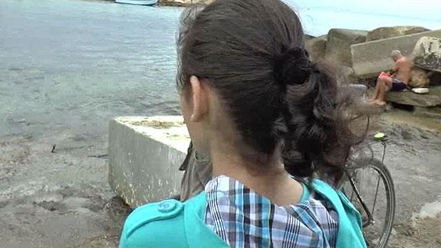 בחיים לא ראתה את הים ( צילום: עידו בקר) ( צילום: עידו בקר)