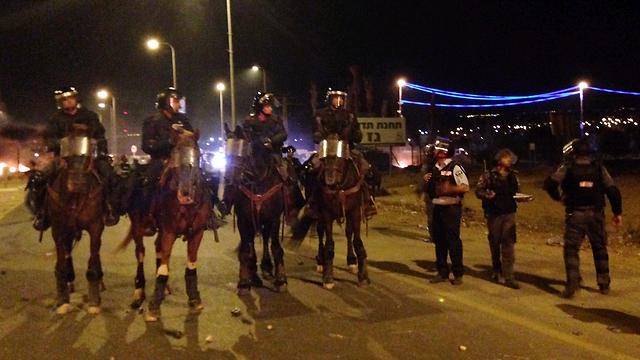 הפגנות נגד תוכנית פראוור לפני כשנתיים, ליד חורה (צילום: אתר פאנט) (צילום: אתר פאנט)
