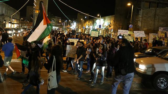 מפגינים נגד תוכנית פראוור ביפו (צילום: עופר עמרם) (צילום: עופר עמרם)