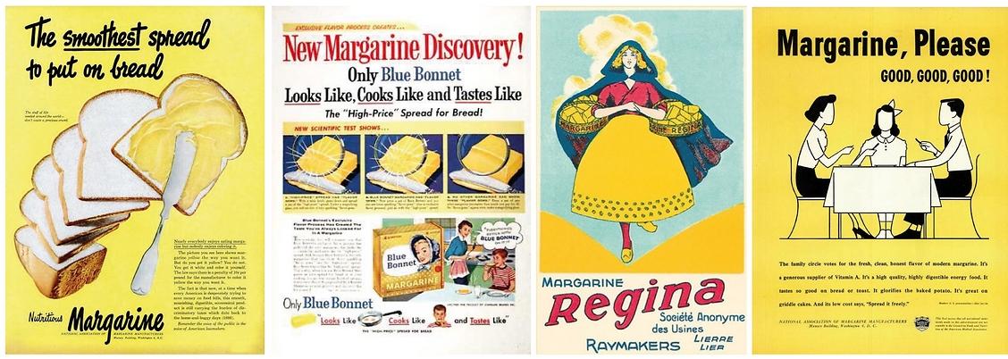 להאכיל הרבה אנשים ובזול. מודעות מהעבר למרגרינה (צילום: vintage-ads)