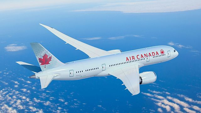 Coming to Holy Land. Air Canada's Boeing 787 Dreamliner plane (Photo: Air Canada)