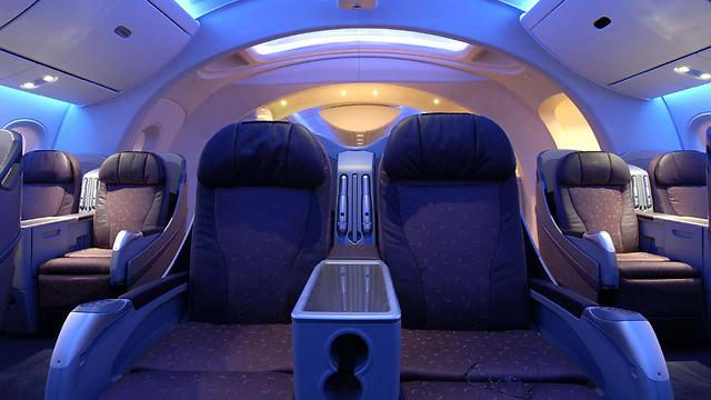 Dreamliner's first-class cabin