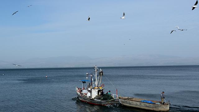 ממשיכים לדוג למרות הסכנות (צילום: חגי אהרון)