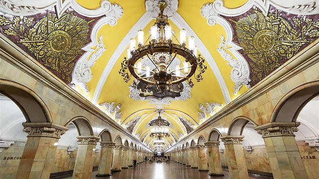 תחנת הסבוויי במוסקבה (צילום: shutterstock) (צילום: shutterstock)