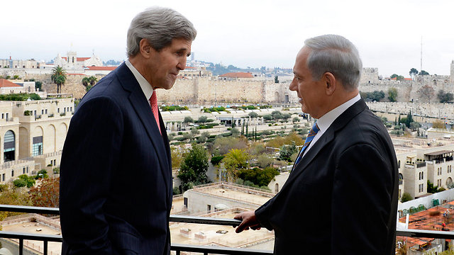 Kerry and Netanyahu in Jerusalem last week (Photo: EPA)