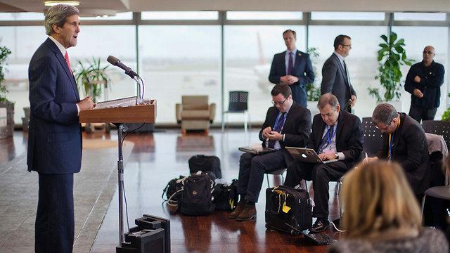 Kerry in Israel (Photo: AP)