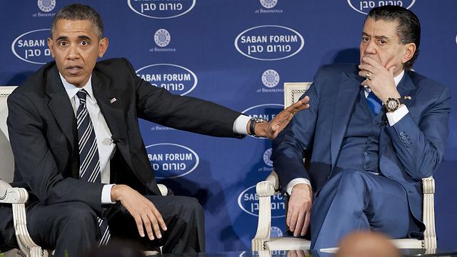 Obama and Saban (Photo: AFP) (Photo: AFP)
