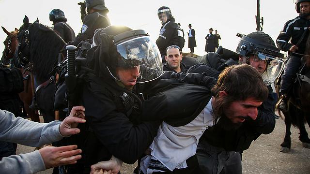 An arrest at the protest (Photo: Avishag Shaar-Yashuv) (Photo: Avishag Shaar-Yashuv)