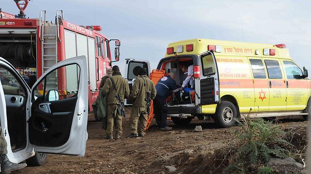 Transferred to MDA ambulances (Photo: Avihu Shapira) (Photo: Avihu Shapira)