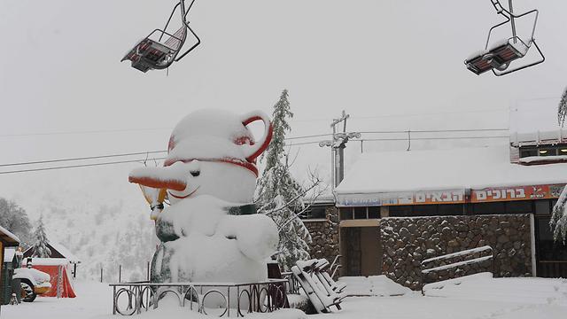 Snow in Hermon (Photo: Avihu Shapira)