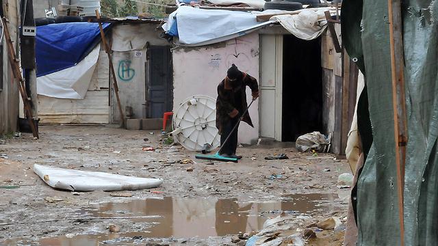 Storm-ravaged Lebanese refugee camp (Photo: AFP) (Photo: AFP)