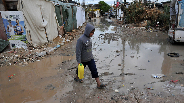 Flooded refugee camp in Tripoli, Lebanon (Photo: AFP) (Photo: AFP)