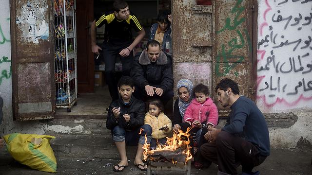 Heavy storm hits Gaza, region (Photo: AP)