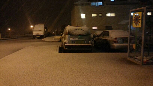 First snow in Kiryat Arba (Photo: Hebron Spokesperson) (Photo: Hebron Spokesperson)