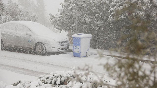 שלג בבית יתיר  (צילום: נתנאל) (צילום: נתנאל)