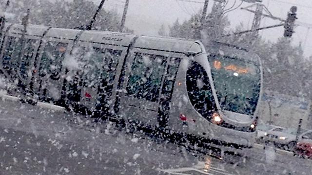ירושלים בסערת השלג (צילום: סברינה) (צילום: סברינה)