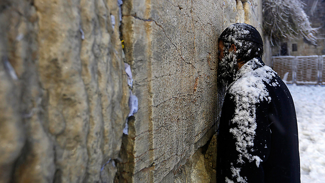 Western Wall worshipper (Photo: Reuters)