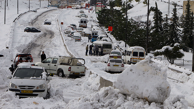 Snowed in. Jerusalem (Photo: AFP)