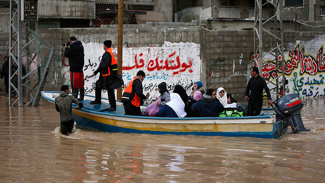 Flooding in Gaza (Photo: Reuters)