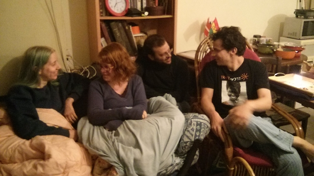 Ofek Birenholtz and his guests spend a snowy Shabbat together in Jerusalem.