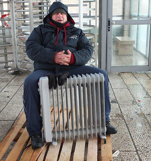 Trying to keep warm (Photo: Yair Sagi)