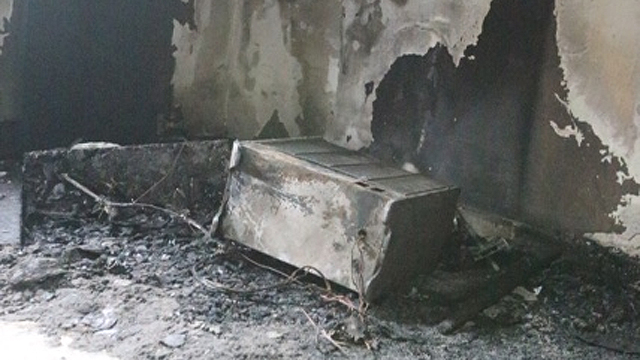 הבית לאחר השריפה (צילום: מוטי קמחי) (צילום: מוטי קמחי)