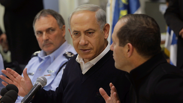 PM, Jerusalem mayor hold press conference (Photo :Ohad Zwigenberg)