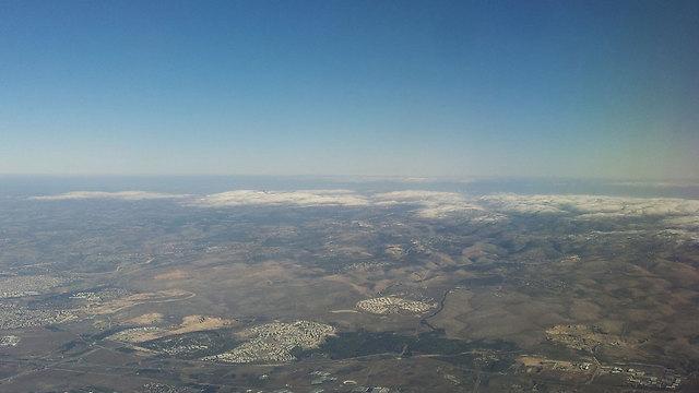 Settlements in the Samarian mountains (Photo:Tamar Lavmor Shlomovitz)